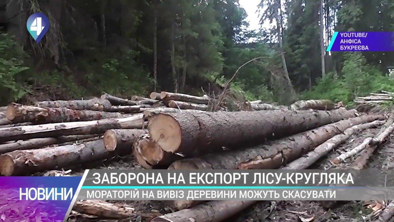 ЗАБОРОНА НА ЕКСПОРТ ЛІСУ-КРУГЛЯКА