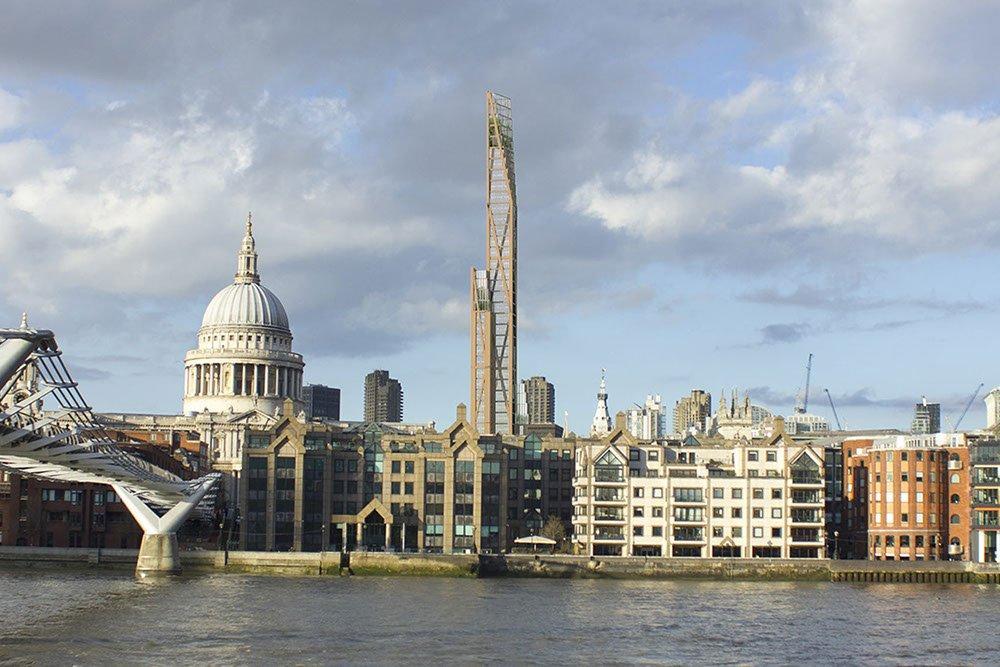 В Лондоне планируют реализовать проект деревянного небоскреба