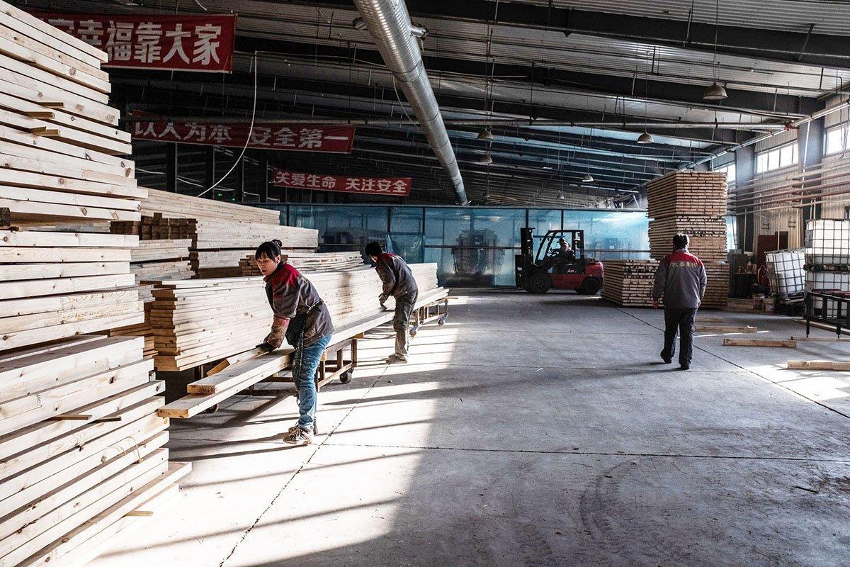 В Китае закрыто 70% предприятий по производству древесных плит