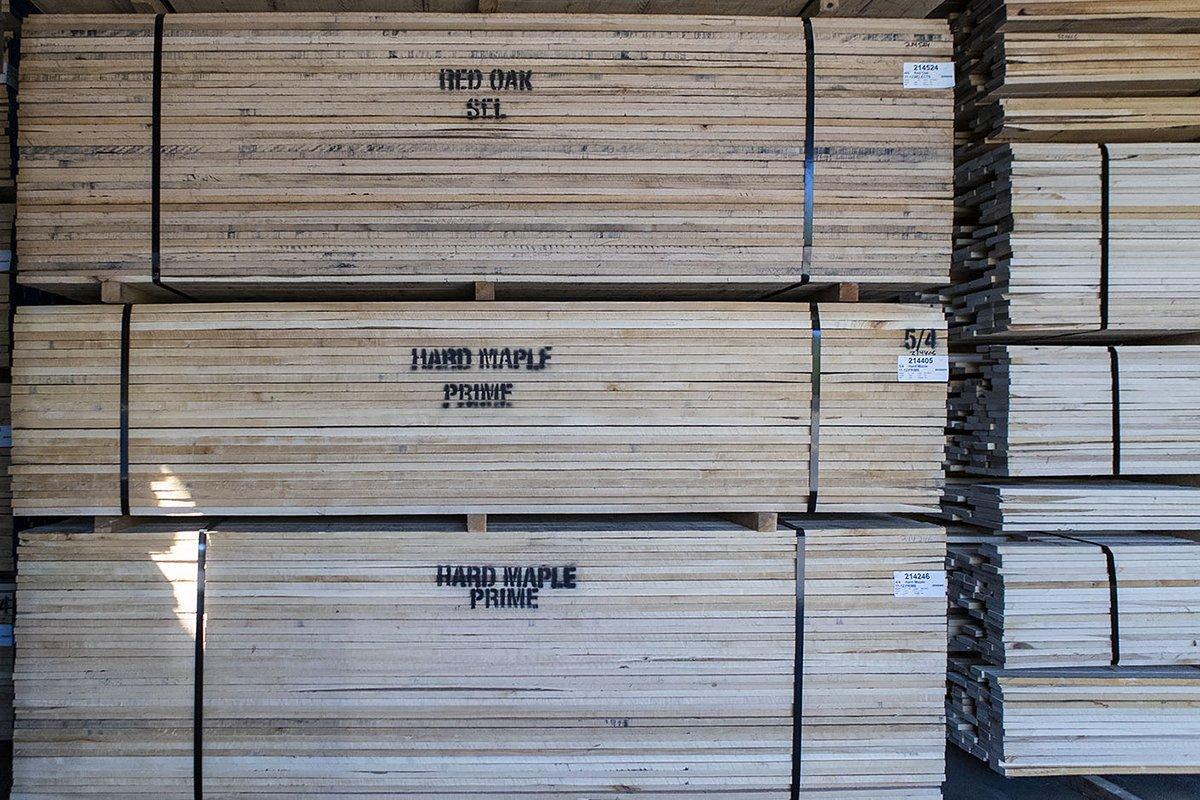 На китайских рынках древесины резко упали цены на лиственные породы из Северной Америки