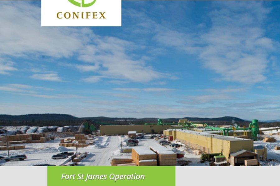 Conifex и Hampton объявляют об утверждении правительством Британской Колумбии продажи лесопильного завода Fort St. James в Канаде