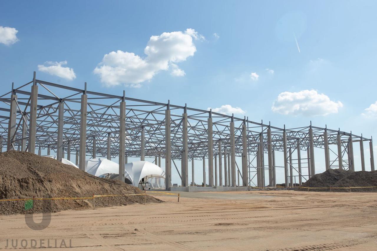 Официальное начало строительства нового лесопильного завода Juodeliai
