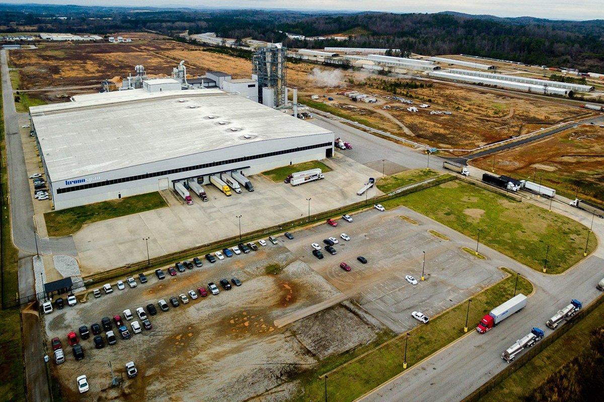 Kronospan начинает производство ДСП на своем новом заводе в Алабаме, США.