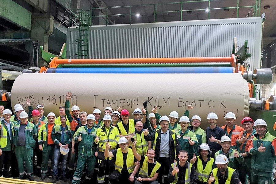 Группа «Илим» завершила проект по реконструкции линии KLB в России