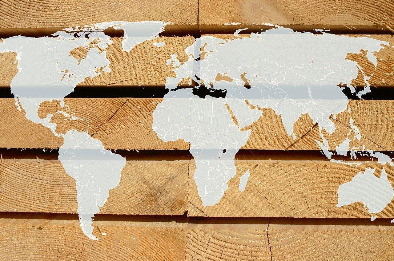 США: экспорт и импорт круглого леса