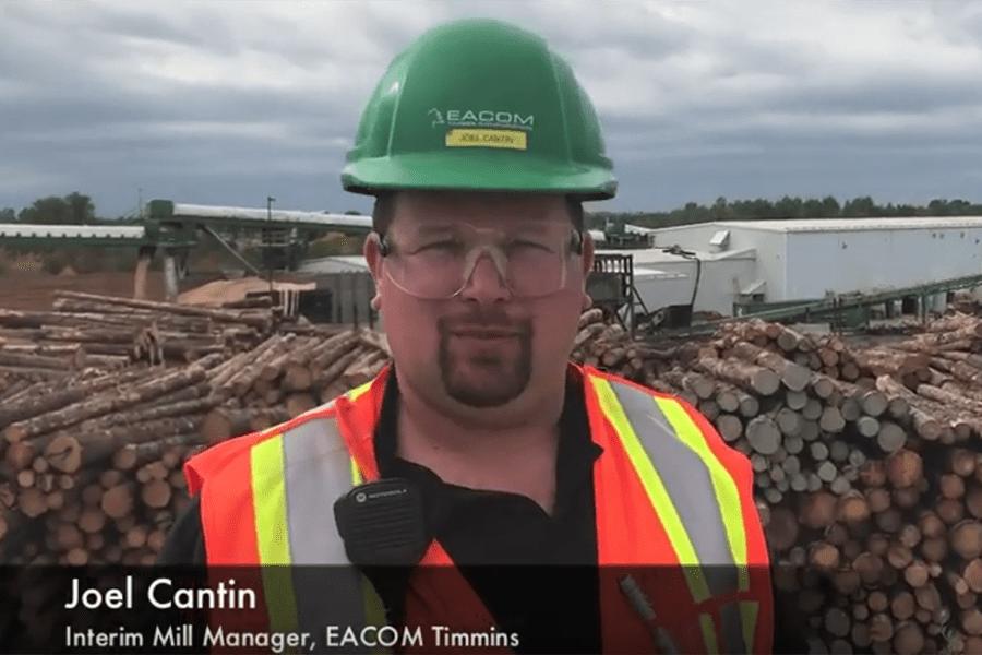 Видео тур по столетнему лесопильному заводу EACOM Timmins