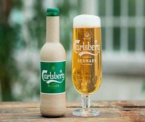 Carlsberg тестирует естественно разлагаемые бутылки из древесного волокна