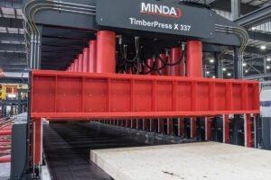 Высокоскоростная технология в прессах для слоисто-прессованной древесины (CLT)