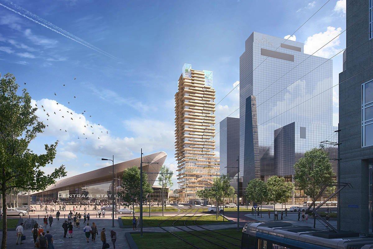 PLP выигрывает конкурс на проектирование 140-метровой деревянной башни