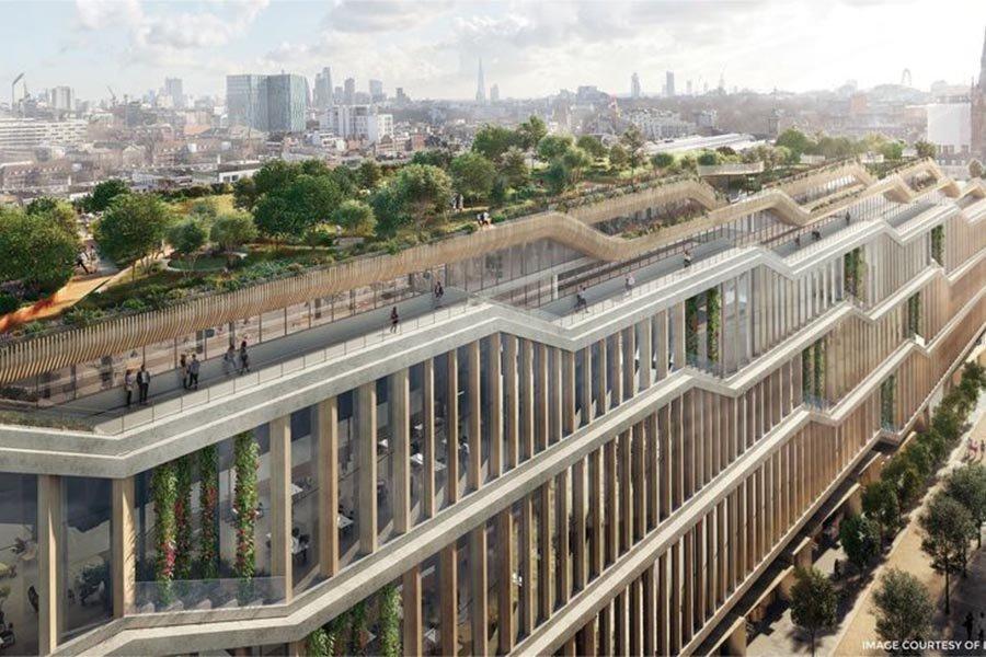 Деревянный фасад нового лондонского головного офиса Google станет крупнейшим в мире