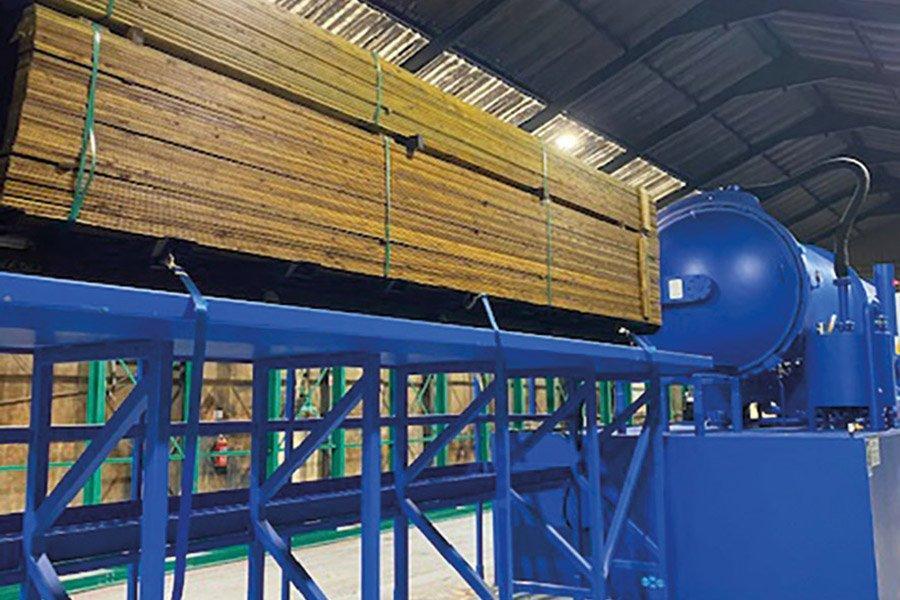 Новая установка по обработке древесины консервантом TANALITH в GE Robinson