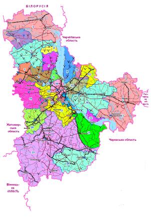 Леса Киевской области (картография и статистика)