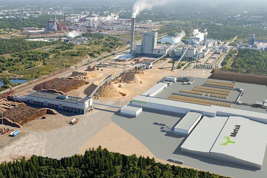 Metsä инвестирует 200 миллионов евро в новый лесопильный завод в Рауме, Финляндия