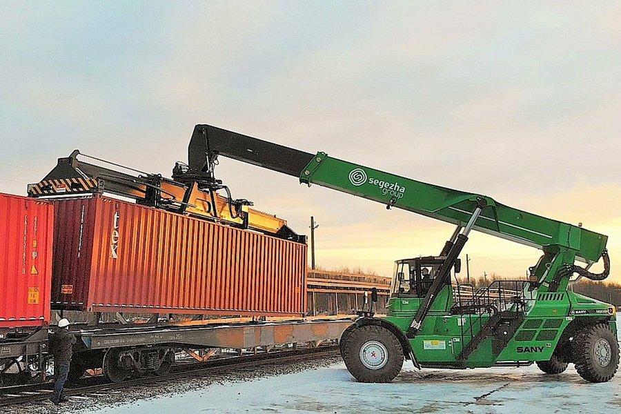 Онежский ЛДК наращивает долю железнодорожных контейнерных перевозок