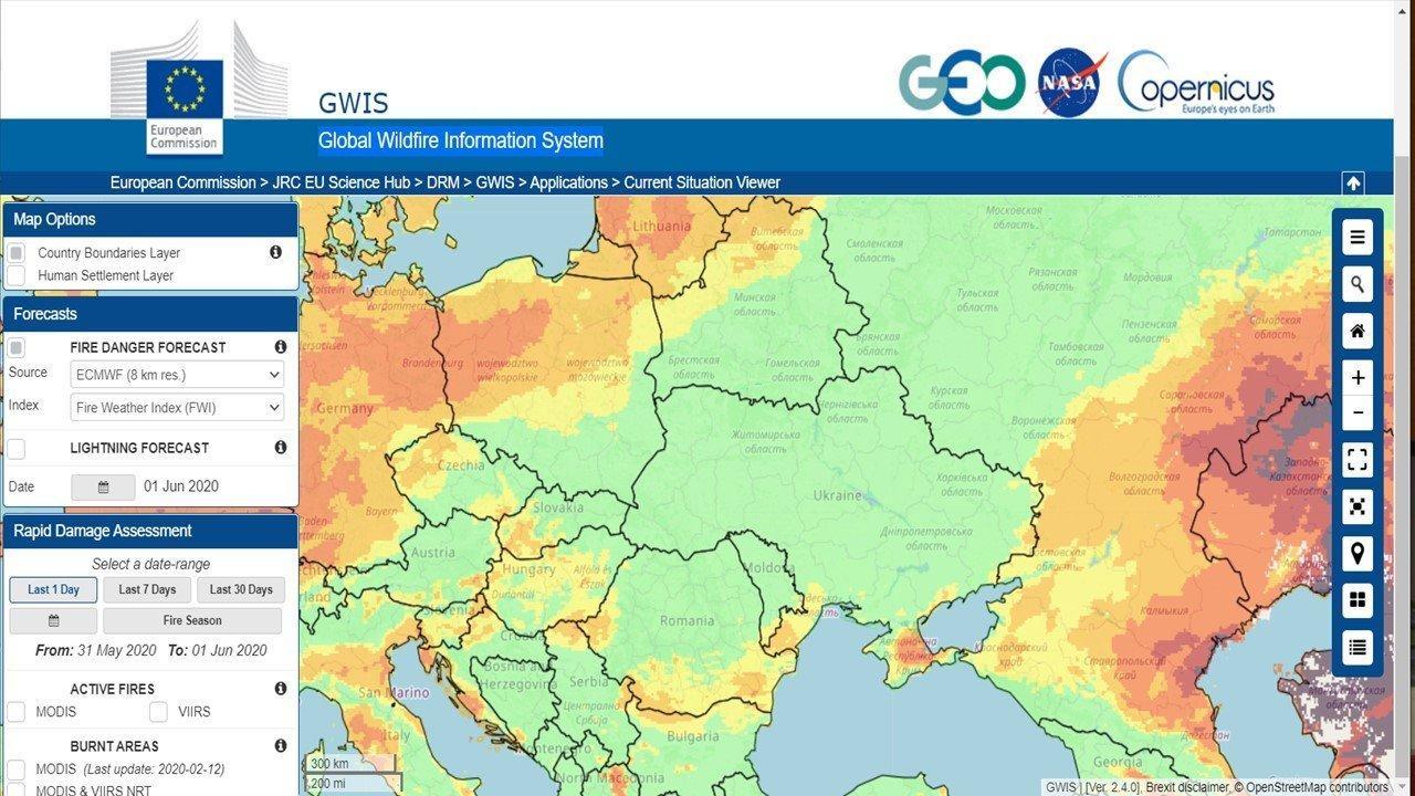You are currently viewing Удобный источник глобальных прогнозов пожарной опасности: GWIS