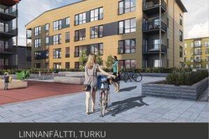 В Турку возведут четыре многоэтажных жилых дома с использованием LVL-бруса Kerto