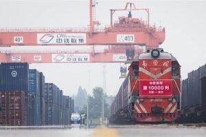 Количество грузовых поездов Китай-Европа выросло на 36% в первой половине года