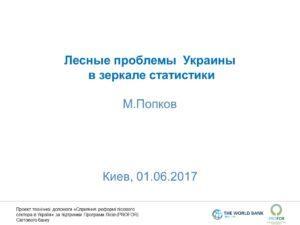 М.Попков: Лесные проблемы Украины в зеркале статистики