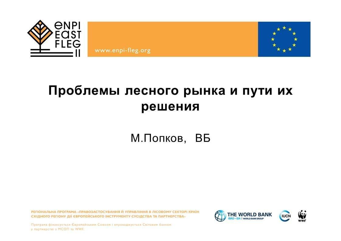 М.Попков Проблемы лесного рынка и пути их решения (резюме и презентация)
