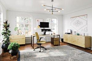 Мебель по контракту, розничные торговцы расширяют партнерские отношения с домашним офисом