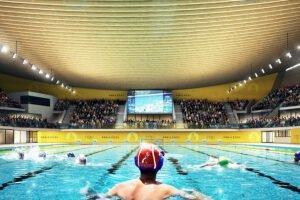 Проект Центра водных видов спорта из волнистой древесины победил среди других проектов для Олимпийских игр 2024 года в Париже