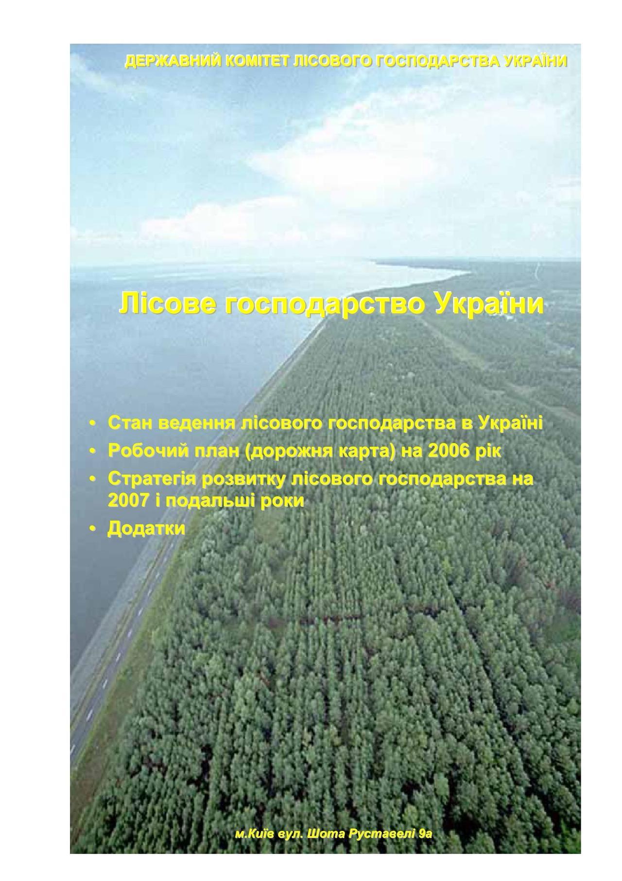 Госкомлесхоз: Дорожная карта (2006) и стратегия развития лесного хозяйства (2007 и далее)