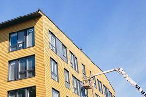 В Финляндии продолжается строительство многоэтажных жилых домов с использованием LVL-бруса Kerto