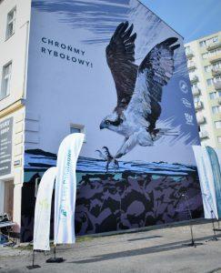 Панно с атакующей скопой, — новая визитка польского города Пила