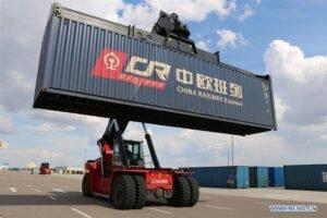 Крупнейший наземный порт Китая принимает рекордное количество грузовых поездов Китай-Европа