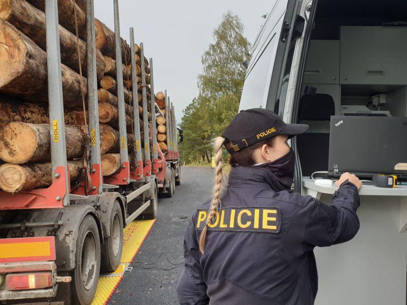Приложение Lesy ČR для учета и контроля поставок древесины используется полицией.
