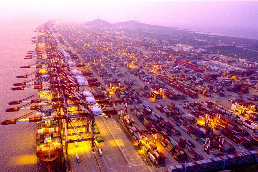 7 из 10 крупнейших портов мира по пропускной способности находятся в Китае