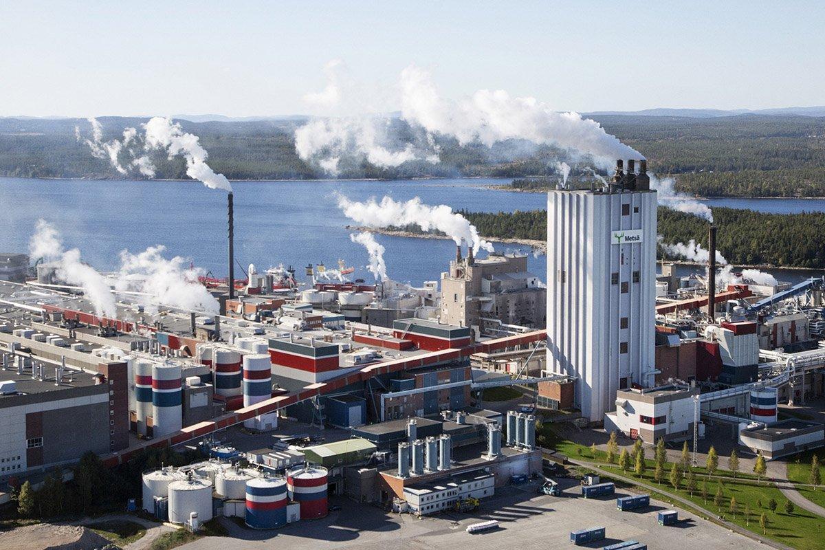 Группа Metsä Board в два этапа модернизирует целлюлозный завод в Швеции