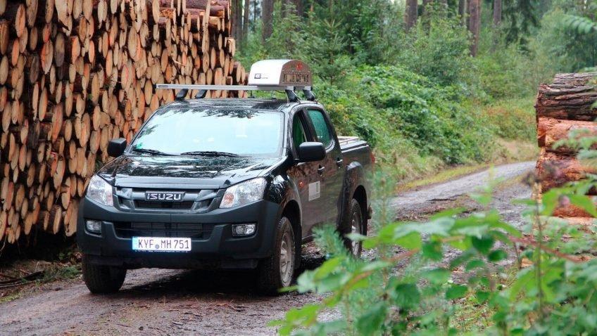 Рекорд:  ThüringenForst провел автоматические цифровые замеры почти 2 миллионов кубометров заготовленной древесины