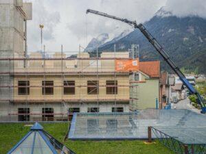 Read more about the article 5-этажная пристройка из древесины  к австрийской больнице