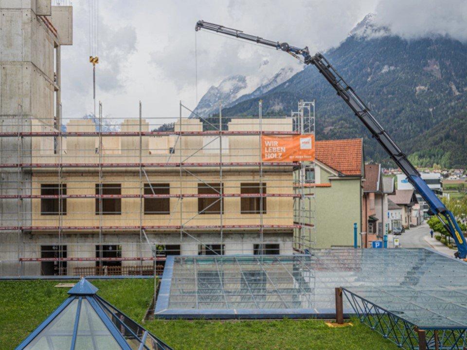 You are currently viewing 5-этажная пристройка из древесины  к австрийской больнице